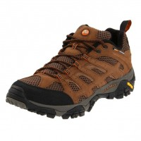 Merrell Men's Moab Ventilator Earth Leather & Fabric Hiking Shoe