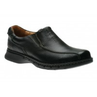 Clarks Mens Un Seal Slip On Loafers  - Black